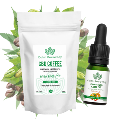 cbd brew bags and cbd oil bundle