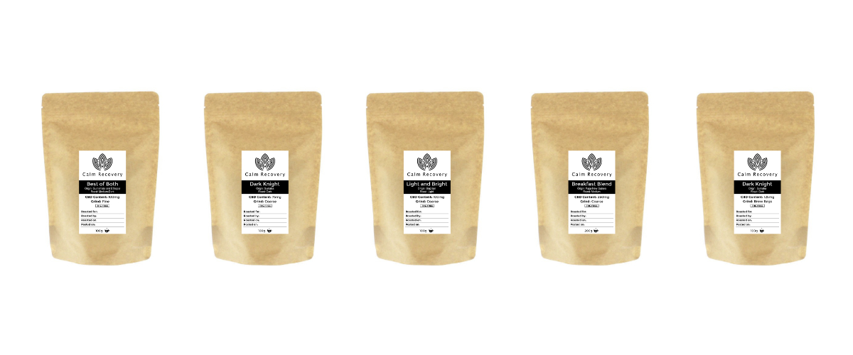 calm recovery cbd coffee bags