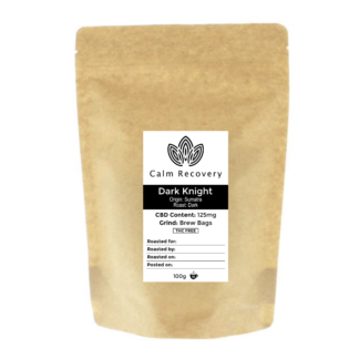 dark knight cbd infused coffee brew bags