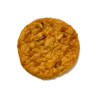 salted caramel cookie white background
